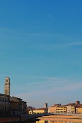 View of Pisa and Ponte di Mezzo (Nicolay Abril) Tags: rivièrearno arnoriver fleuve rio rioarno arno fluss fiume fiumi pisa toscana italia pise toscane italie toskana italien tuscany italy réflexions réflexion montagne montagnes refletsdeleau couleurs coloré pontedellafortezza pontedimezzo