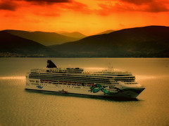 Norwegian Cruise (try...error) Tags: sunset ship greece sea jade meer schiff kreuzfahrt peloponnisos nafplia