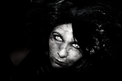 Witch (giladvalkor) Tags: witch horror scary creepy blackandwhite halloween possessed