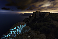 Luminescence (mvdc0w) Tags: marseille light rock fall sky clouds cassis ciotat provence coast sea wind winter night beauty nature france europe south strange blue paths aliens ovni lucioles