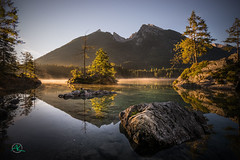 Hintersee Fall Sunrise (Andreas Krappweis - thanks for 2,5 million views!) Tags: hintersee sunrise september lake water nature calm tranquility fairytale natural untouched silent ramsau bavaria germany alpen reflection