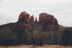 Cathedral rock. (catherine_young) Tags: unitedstates usa america roadtrip winter southwest thesouthwest travel canon canoneos eos7dmarkii redrock sedona arizona rock red wintertrees cathedralrock