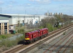 20227 + 20142, Castle Donnington, 3 April 2017 (Mr Joseph Bloggs) Tags: 20227 20142 20 227 142 railway railroad castle donnington washwood heath butterley mrc midland centre 0m90 train treno bahn