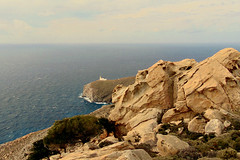 A day at an exhibition 333. Hard hiking, wild swimming and admiring rocks scuptured by nature in Cape Papas, Ikaria (angeloska) Tags: landscape lighthouse ikaria kavopapas opsikarias karkinagri trailofthelighthouseguards march rockclimbing hiking aegean greece sea rocks ικαρία καρκινάγρι κάβοπάπασ μονοπάτια hollowrocks οπσικαρίασ