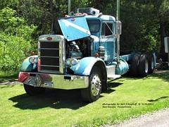 Peterbilt, New Stanton, PA. 5-26-2013 (jackdk) Tags: truck tractor tractortrailer semi semitruck bobtail peterbilt pete petercar truckshow antique antiquetruck antiquevehicle carshow carcruise