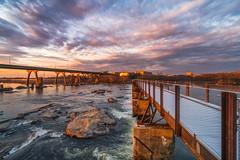 T. Potterfield Bridge at Sunrise (Michael Chronister) Tags: rva richmond virginia explore exploration sunrise jamesriver potterfirld bridge richmondva