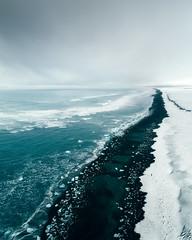 Ice Coast (ArnarKristjans_photography) Tags: iceland jökulsárlón sea shore ice winter blue green colors aerial dji landscape phototours workshop