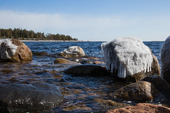 Mer froide (sosivov) Tags: landscape sweden sea bothniansea ice blue