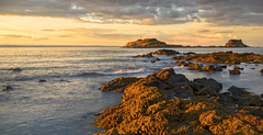 Between a Rock and a Hard Place (kathharper23) Tags: light berwick lighthouse rocks sundown side