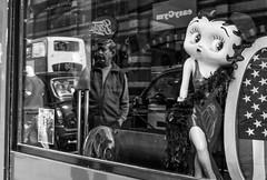 2017_112 (Chilanga Cement) Tags: fuji fujix100t fujix100f x100t xseries x100s x100 x100f bw blackandwhite bar pub betty bettyboo reflection reflections reflecting reflective window windows mannequin man sidewalk walk pavement