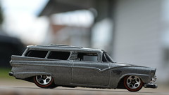 Custom 1956 Ford Ranch Wagon (FOXHOUNDS_FINEST) Tags: ford ranch wagon hotwheels ranchwagon 164 1956 diecast redline custom crate8 nikon realism realistic