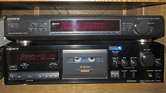 Sony TC-K611S Cassette Deck and ST-SE520 Tuner (Amateur Radio Station G4FUI) Tags: tck611s cassettedeck sony hifi stse520 tuner 1990s consumerelectronics