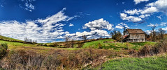 IMG_1254-55Ptzl1scTBbLGER (ultravivid imaging) Tags: ultravividimaging ultra vivid imaging ultravivid colorful canon canon5dmk2 clouds fields farm scenic vista spring panoramic pennsylvania pa barn