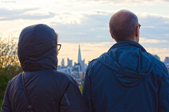 Looking one way.  Greenwich Park, London, SE10 (MJ Reilly) Tags: view viewpoint london nikon d7200 nikond7200 greenwich greenwichpark londonskyline cold anorak couple man woman looking city theshard shard glasses