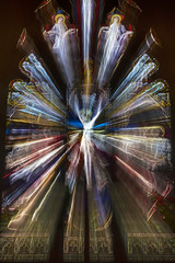 St Mary's, Gosforth (Nick Landells) Tags: stmarys gosforth cumbria stained glass window zoom burst le longexposure fractal fractals church