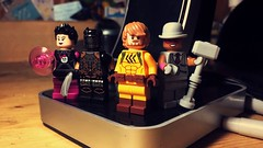 The Secret Four (Rejected) (LordAllo) Tags: lego dc new 52 the secret six black alice strix catman porcelain