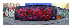 Street Art (Spore), East London, England. (Joseph O'Malley64) Tags: spore streetartist streetart urbanart publicart freeart graffiti eastlondon eastend london england uk britain british greatbritain art artist artistry artwork mural muralist
