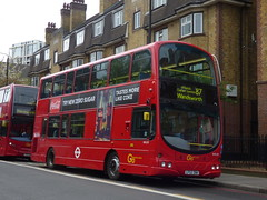 Hybrid In Disguise (londonbusexplorer) Tags: goahead london vantage power volvo b7tl hybrid electric wrightbus gemini wvl95 lf52znh 87 wandsworth aldwych tfl buses trial