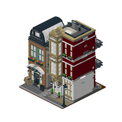 pcb00 (agata_pakita) Tags: town lego modular buidling city instructions custom