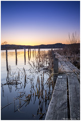 170418 022-HDRweb1 (Marteric) Tags: alingsås mjörn bridge sunset blue hour bluehour evening sweden xt20 calm beauty hdr