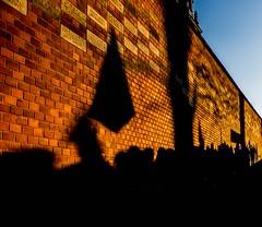 The Wall (Kornelson) Tags: flag protest krakow poland april wall pinkfloyd people shadow shadows sky wawel fuji fujinon fujifil xt1 xc1650