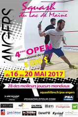 Grande Affiche OPEN SQUASH 2016 version 2 (French squash français) Tags: squashlacdemaine squash psatour psa angers