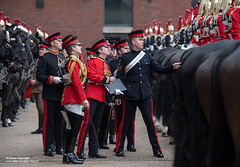 QUEENS CAVALRY READY FOR SUMMER OF CEREMONIAL (Defence Images) Tags: ceremonial occasion horse animal soldiers identifiable personnel helmet headwear plumedhelmet jackboots breastplate silvercuirasses army regiments thehouseholdcavalry thehouseholdcavalrymountedregiment hcmrd location london equipment clothing bugle hydeparkbarracks defence defense uk british military londondistrict unitedkingdom gbr