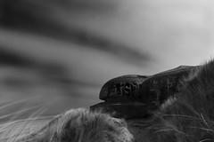 Bunker  LE (selvagedavid38) Tags: mono black white nd neutral density beach defence bunker ww2 atlantic wall belgium long exposure tripod blur clouds concrete graffiti coast coastal sea