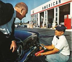 Final/Filter, 1962 (STUDIOZ7) Tags: americanoil standardoil amoco finalfilter gas station service petroleana masschusetts 1960s 60s sixties cars automobiles ford falcon cocacola permalube oil company