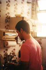 duties (meeeeeeeeeel) Tags: boy sunlight guy film window kitchen analog 35mm warm candid zenit filme cozinha rapaz warmtones filmphotography zenit12xp