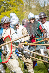 [2014-04-19@15.03.43a] (Untempered Photography) Tags: history costume fight helmet battle medieval weapon sword knight shield combat armour reenactment skirmish combatant chainmail spear canonef50mmf14 perioddress polearm platearmour gambeson poleweapon mailarmour untemperedeye canoneos5dmkiii untemperedeyephotography glastonburymedievalfayre2014