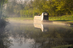A Brand New Day.. (Philip R Jones) Tags: morning mist reflection misty fog photoshop reflections morninglight canal cheshire foggy hdr selectivefocus middlewich trentandmersey subtlehdr