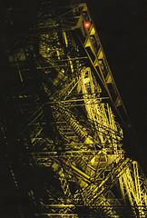 Eiffel Tower (Gwenal Piaser) Tags: leica paris france tower film yellow night jaune 50mm iso800 reflex iron ledefrance torre tour kodak f14 eiffel negative tungsten february francia nuit summilux 1000 parigi negatif 2014 800asa c41 leitz leicar leicar5 feraille summiluxr leica50mmsummilux cinestill nuiit 800tungsten cinestill800t leica50mmsummiluxr cinestill800isotungstenxproc41 800tungstenxproc41