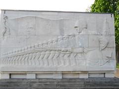 Berlin - Soviet war memorial in Treptower Park (5) (rh1192) Tags: park art memorial war frieze communist communism soviet sarcophagus neoclassicism ussr treptower stalinist ehrenmal sowjetisches