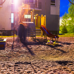 125/365 (ibuokli jra) Tags: mist selfportrait night spring blossom ghost swing gone mistery