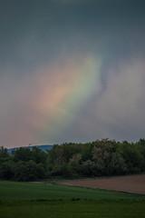 rainbow cloud (maikepiel) Tags: field clouds rainbow feld wolken regenbogen