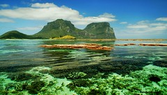 Coral Lagoon - Mt Lidgbird and Mt Gower, Lord Howe Island, Australia (Black Diamond Images) Tags: corallagoon mtlidgbird mtgower lordhoweisland worldheritage thelastparadise volcanicmountains coralreef caldera coral reef paradise nsw australia ocean water lagoon exposedcoral tourismaustralia worldheritagearea blackburnisland rabbitisland mostbeautifullandscape shorescape seascape landscape beautifullandscapes beautifullandscape sceniclandscapes sceniclandscape magificentscenery nswnationalparks