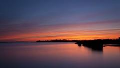 Silky water (Bereno DMD) Tags: ocean longexposure blue sunset sea color reflection beach water weather evening timelapse spring twilight dusk connecticut atlantic bluehour longshutter beachhouse southendpoint
