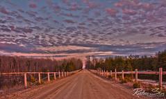 Mackerel Sky at Sunset