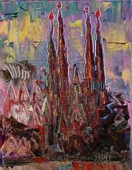 Sagrada Familia Gaudí (Arturo Espinosa) Tags: barcelona arty gaudí sagradafamilia oilpaletteknife
