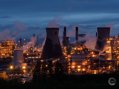 Industrial Scotland. (Empato) Tags: light night smoke illuminated pollution grangemouth ineos