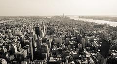 Mono New York (- Matt Haigh -) Tags: new york city travel newyork buildings mono views empirestatebuilding heights