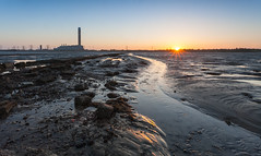 Grain Power Station Sunset (Olly Plumstead) Tags: sunset sea water station canon landscape kent rocks power mud grain olly isle tidal plumstead 5dmarkii 5d2 canon5dmarkii
