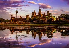 Sunset Temple (aruprayone) Tags: sunset cambodia angkorwat