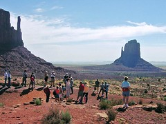 Our Tour at the Mittens (AntyDiluvian) Tags: arizona hotel utah tour desert motel lodge guide navajo monumentvalley mittens reservation rockformation navaho tradingpost tourgroup navajonation gouldings themittens