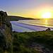 Sunset over Porthmeor, St. Ives, Cornwall