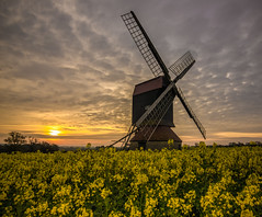 Stevington sunrise (grbush) Tags: windmill rural sunrise dawn countryside bedfordshire daybreak oilseedrape postmill stevington stevingtonwindmill tokinaatx116prodxaf1116mmf28 sonyslta77