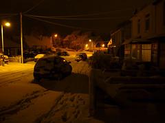 (2009) (021) (krlo_Ox) Tags: winter snow unitedkingdom snowfall ipswich nightlighting