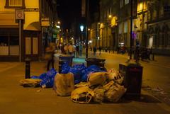 Rubbish (thenickyroberts) Tags: street southwales wales night photography south cardiff caroline queen caerdydd nightlife hayes capitalcity stmarystreet