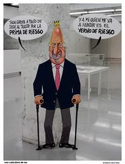 una caricatura de rey (wuploteg1) Tags: espaa spain king juan country carlos sala rey javier gamboa bizkaia basque vasco euskalherria euskadi bilbo pais asier rekalde sanz diputacion foru bizkaiko aldundia